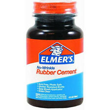 Genuine Elmers Rubber Cement 4oz. #e904