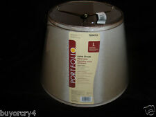 *NEW* LARGE TAUPE/LIGHT BROWN LAMP SHADE by Portfolio #0354721