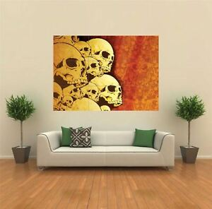 Gothic Skulls Horror Creepy Giant Wall Art New Poster Print Picture