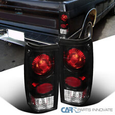 For 82-93 Chevy S10 Blazer 83-90 GMC S15 Sonoma Pickup Black Tail Lights+Brake