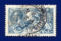 1918 SG417 10s Dull Blue Bradbury Wilkinson N71(1) British APO GU Cat £175 daow