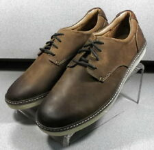 251642 MS30 Men's Shoes Size 9.5 M Brown Leather Lace Up Johnston & Murphy