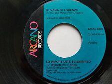 SILVANA DI LORENZO - Lo Importante es Saberlo / Cubreme de Amor 1978 LATIN POP