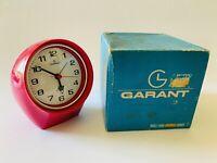 🔴 Orologio vintage a fanale GARANT raro Colore Fuxia NUOVO orig. anni 70