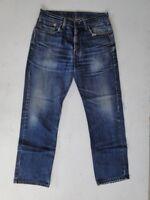 Levis 751 Slim Herren Jeans Hose Blau Stonewashed W33 L30