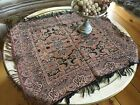 Lovely Antique Paisley Table Shawl 1900-1940 Tablecloth Fringe Trim #1F