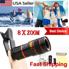 HD 8X Clip on Optical Zoom Telescope Camera Lens for Universal Mobile Cell Phone