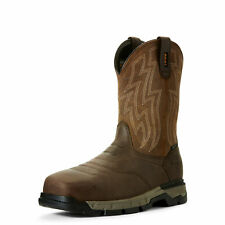 Ariat 10027320 Masculino Rebar Flex Western Composite Toe Quadrado Marrom botas de trabalho