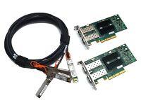 10G Kit Mellanox ConnectX-2 PCIe x8 2.0 10Gigabit 10GBe SFP+ Dual + 2x3m DAC Set