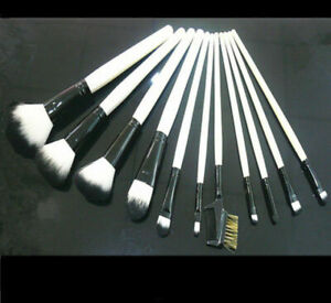 11tlg. Make up Pinsel Brush Schminkpinsel Kosmetik Rouge Lidschatten Augenbrauen