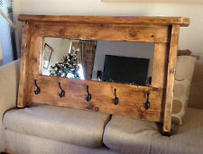 le moncontour a traditional mirror with coat hooks and hat shelf