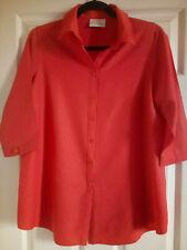 Dorothy Perkins Shirt Blouse Burnt Orange Size 12