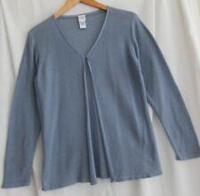 EILEEN FISHER size S lavender PURPLE cotton cardigan sweater one button summer!