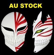 AU Stock Bleach Ichigo Kurosaki Bankai Mask Full+Half Halloween Cosplay Props