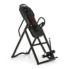 Klarfit Inversion Bench Folding Table Trainer Therapy Back Home Gym Black