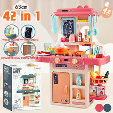 42PCS Kitchen Playset Pretend Kids Play Toy Cooking Set With Light Sound Effect