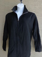 New Just My Size Lighter Weight French Terry Zip Front Mock Neck Jacket 4X Black
