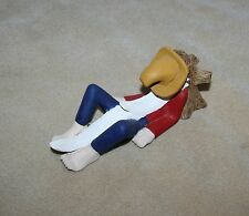 Folk Art Wooden Sleeping Man Rip Van Winkle Sculptures Carvings