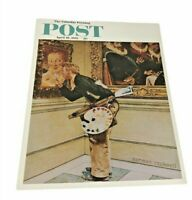 "Art Critic  Norman Rockwell Print Saturday evening post 8.5"" x 11"""