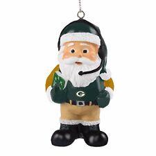Green Bay Packers Coach Santa Resin Holiday Christmas Tree Ornament New