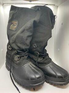 Sorel Snowbear Kaufman Boots Winter Black Insulated Felt Lined Canada Men 7