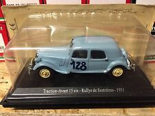 "DIE CAST "" TRACTION AVANT 15 SIX RALLY DE SESTRIERES 1951 "" CITROEN ATLAS  1/43"