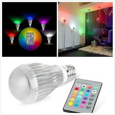 Mágica RGB Bombilla E27 3W LED Lámpara de Cambio Spot 16Color + Control Remoto