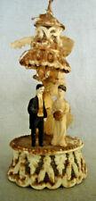 VICTORIAN ERA  Bride & Groom Wedding TOPPER  With bell Sugar base