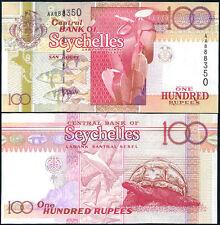 SEYCHELLES 100 RUPEES ND 1998 P 39 AA PREFIX UNC
