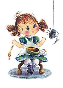 ACEO Limited Ed. MISS MUFFET by Sharon Sharpe