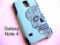 Custom Otterbox Commuter Galaxy note 4 sugar skull case