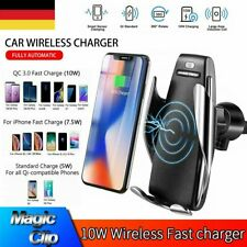 Qi Auto Wireless Charger Handy Halterung Induktions Ladegerät Clamping KFZ DHL