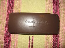 COLE HAAN Eyeglass Eye Wear Glasses Sunglasses Case Holder Brown Large