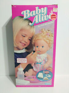 Vintage 1990 90s Kenner Baby Alive Doll Box ONLY Good Condition