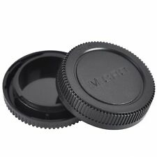 Body+Rear Lens Cap Cover Protective Case For Olympus M4/3 Camera Accessory Black