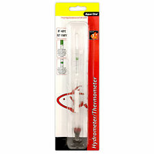 Aqua One Hydrometer with Thermometer Marine Reef Salinity Aquarium Fish Tank