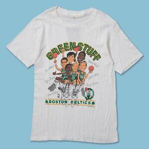 Vintage Boston Celtics T-Shirt White Unisex Cotton Reprint S-3XL TK4681