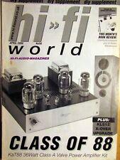 HI-FI WORLD DIY SUPPLEMENT No50 2000 KAT88 36 WATT CLASS A VALVE POWER AMP KIT
