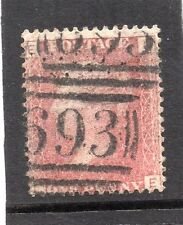 La Regina Vittoria usato uno PENNY ROSSO FRANCOBOLLO. SG 43 PIASTRA 121. LETTERE? e