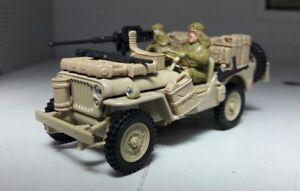 SAS Lrdg 1:43 Maquette Willys Jeep Armée Gunship Vickers Oxford Cararama CJ-5