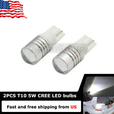 2PCS White T10 168 W5W 921 912 Cree High Power LED Bulbs Reverse Backup Lights