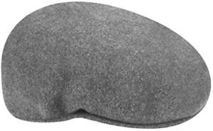 Kangol Original 504 Casquette Flatcap Bêret Bonnet Laine Gris Foncé Neuf