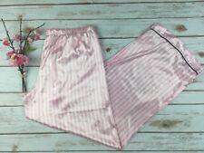Victoria's Secret Women's SZ L Pink & White Striped Pajama Pj Pants Bottoms SS13