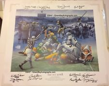 The Ice Bowl print by Spransy - Packers -signed by all 11 players on field! RARE