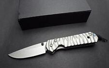 CNC D2 Blade Full TC4 TITANIUM Handle Folding Pocket knife BLW