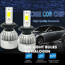 H7 1250W 187500LM CREE LED Headlight Kit High Low Beam Bulbs 6000K White Power