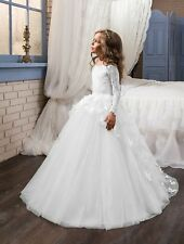 Butterfly Wedding Party Flower Girl Holy Communion Party Prom Pageant Dress