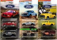 2019 MATCHBOX FORD TRUCK SERIES COMPLETE SET 6 CAR FORD F-150 MOON EYES GULF
