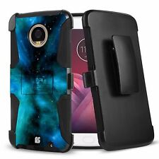 Rugged Case w/Stand Cover+Holster Clip for Motorola Moto Z2 Play Moto Z2 Force