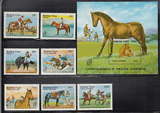 Burkina Faso 1985 Horses Sc 724-731 complete mint never hinged